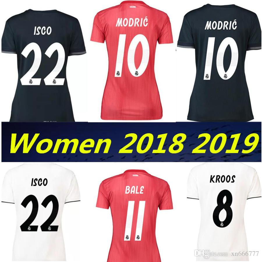 bb59715eaef ... where to buy 2018 real madrid 2019 women third red soccer jersey 18 19  bale ramos ...