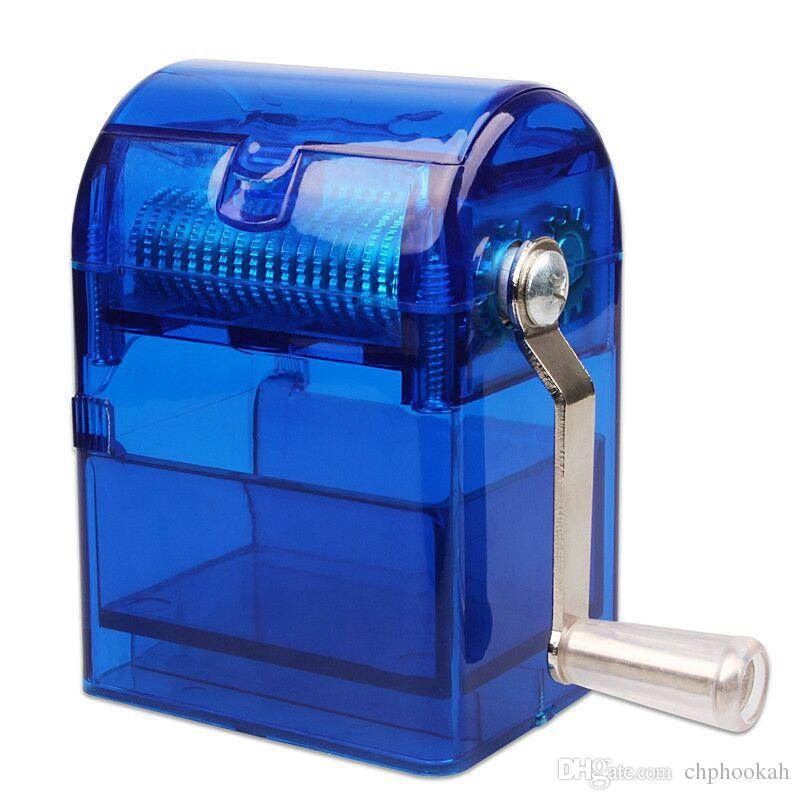 The new acrylic hand grinder innovative plastic semi automatic grinding device for broken tobacco smoking accessories
