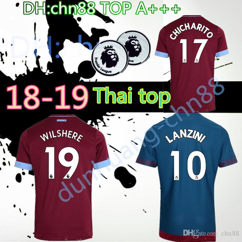 2019 SIZE S XXL 2018 New West Ham United Home Soccer Jersey 18 19 Thai  Quality CHICHARITO CARROLL SAKHO Away Football Jerseys Shirt From Chn88 28fb897b3