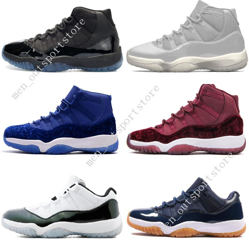 63dfcb8dc85 11 11s Cap And Gown Prom Night Mens Basketball Shoes Gym Red Bred PRM  Heiress Barons Gamma Blue Concord Men Sport Sneakers Trainers Designer  Online with ...