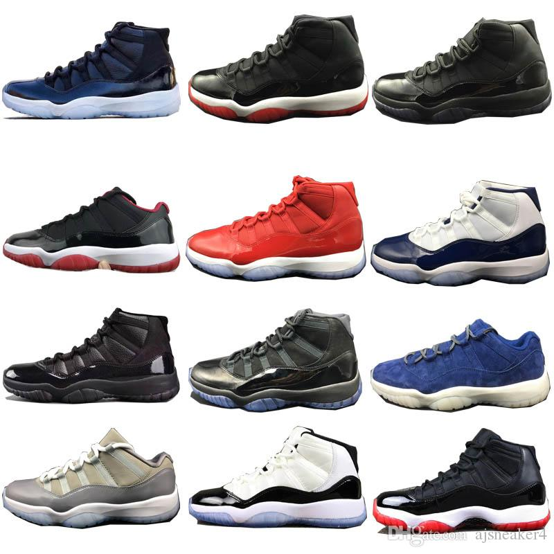 buy online c3853 d4f36 2018 New 11 11s basketball shoes blue Tinker Alternate Olympic Hares  Bordeaux Cigar Cardinal French Blue GMP Sneakers With Box