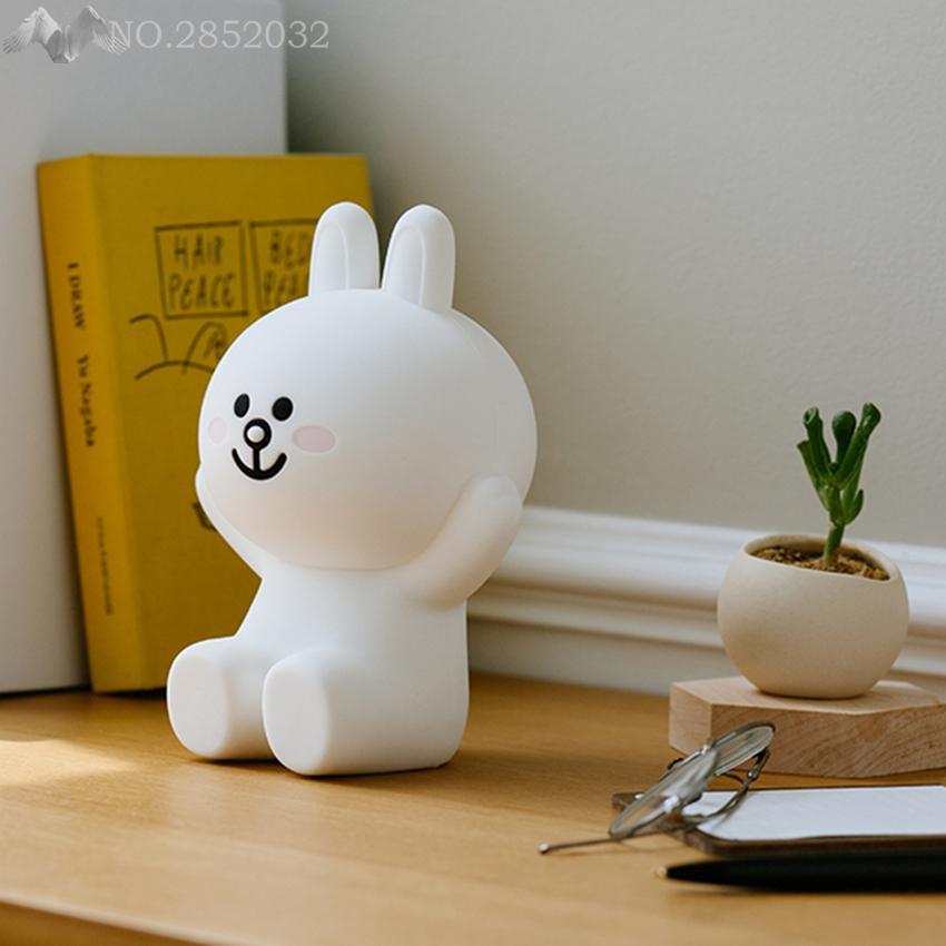 Cute Cartoon lights Bear Brown & Bunny Cony night light LED night lamp kids bed table lamp lighting fixtures Children's gifts