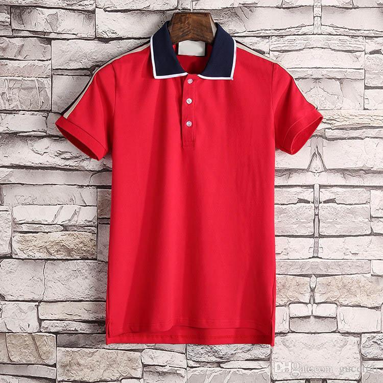 2018 новый роскошный вышивка мужские поло италия мода рубашка поло майка хай-стрит змея маленькая пчела тигр принт футболка поло