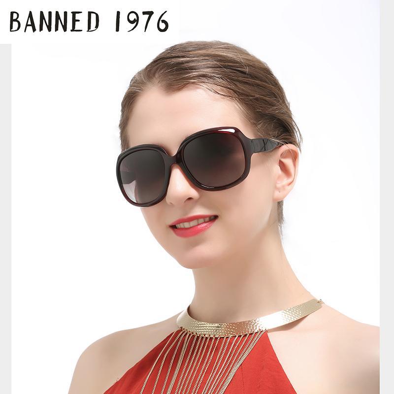 Compre PROIBIDO 1976 Marca De Moda Óculos De Sol Das Mulheres De Luxo  Designer De Óculos De Sol Do Vintage 2017 Feminino Rebite Shades Big Frame  Estilo ... cbcd3b9860