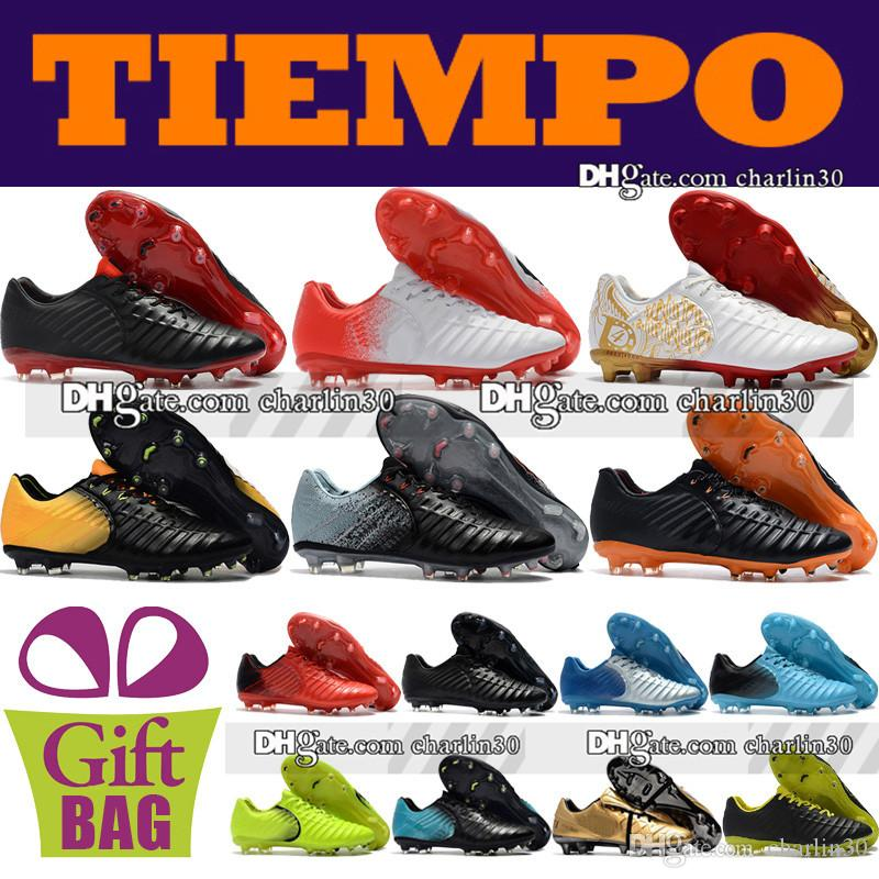 6843e5516b7 Cheap Sale 2018 Original Mens Leather Football Boots Tiempo Legend VII FG  Soccer Shoes Outdoor Firm Ground Tiempo Soccer Cleats Size 39 46 Shoes  Online ...