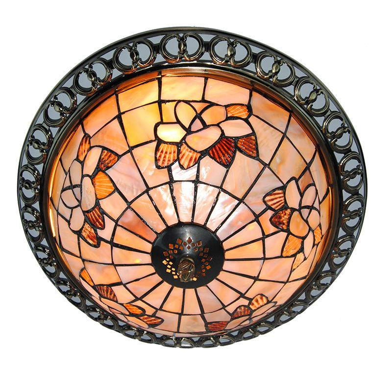 2019 3 Lights Tiffany Style Light Fixture Dining Room Living Tiffanylampe Vintage Stained Glass Ceiling Flush Mount Lamp CL330 From Sebastiani
