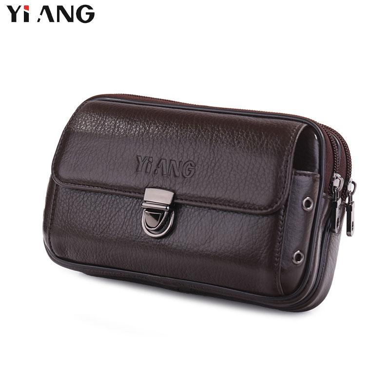 5b7f4e2db42b3 Wholesale Genuine Leather Waist Packs Fanny Pack Belt Bag Phone ...
