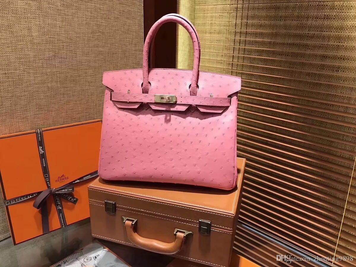 bfae19d2af !aaaa Most Quality Ostrich Skin Leather Shoulder Bag Handbag 2018 New Joker  Aslant Handbag Hobo Bags Ladies Handbags From Zhouting9898