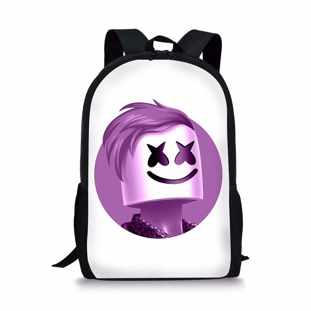 c4f79f090 Compre NOISYDESIGNS Marshmello Schoolbag Mochila Adolescente Bolsa De Ombro  Para A Menina Menino Sacos De Escola Mulheres Mochila De Viagem Por Atacado  De ...