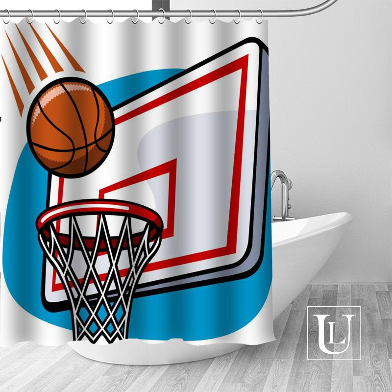 2019 Best Nice Custom Basketball Shower Curtain Personalized Pattern Bath Waterproof Fabric For Bathroom More Size From Gor2don 7457