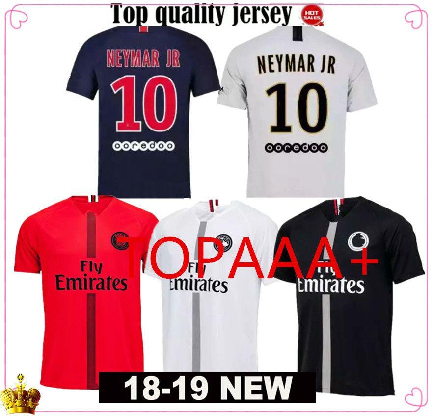 4d7dc0f296f1b Compre Top Tailandia Calidad AIR JORDAN PSG 3RD Tercera 18 19 Jersey De  Fútbol 2019 Paris Saint Germain Jerseys Champion Campeones NEYMAR JR MBAPPE  Cavani ...
