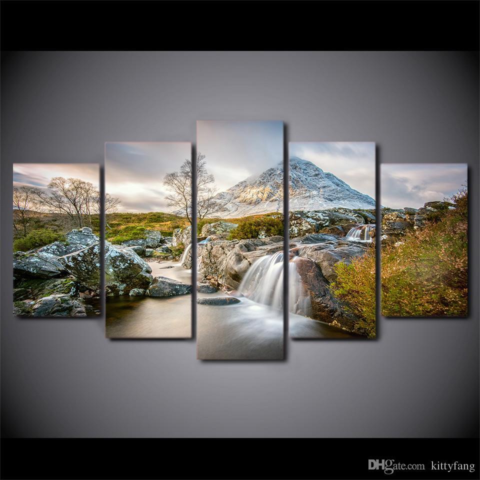 5 шт. оформлена HD печатных лето природа холст Живопись стены искусства печатает Home Decor для Linving Room Art Picture