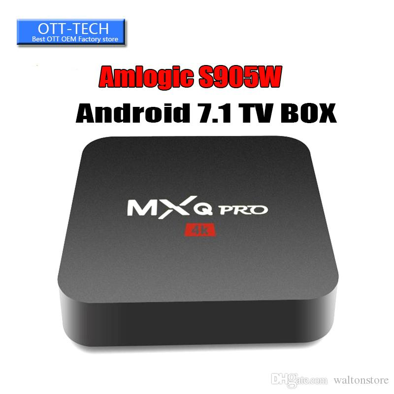 MXQ Pro 4K Android 7.1 TV Box Amlogic S905W RK3229 Supporto per lettore multimediale in streaming Set top box WiFi 3D