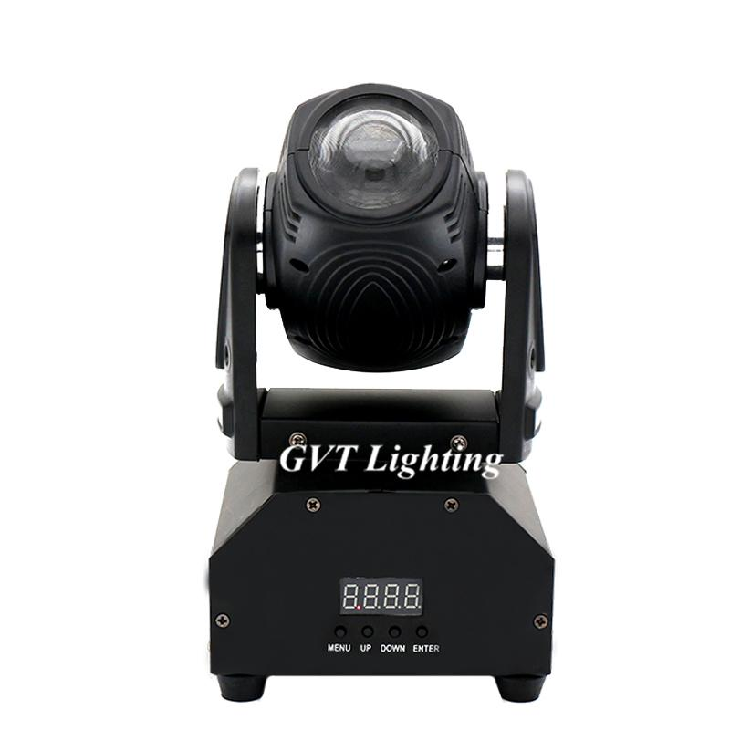 DMX512 Rotating RGBW Stage Effect Lamp 10W LED Beam Moving Head Light Sound Activated Master-slave Auto Beam Stage Lighting