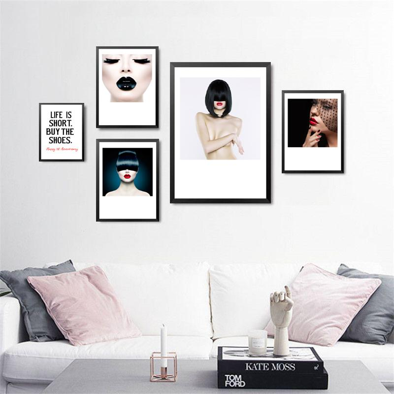 2018 unframe modern decorative painting spa beauty salon colorful makeup wall painting canvas art print poster home decor fg0014 from starch