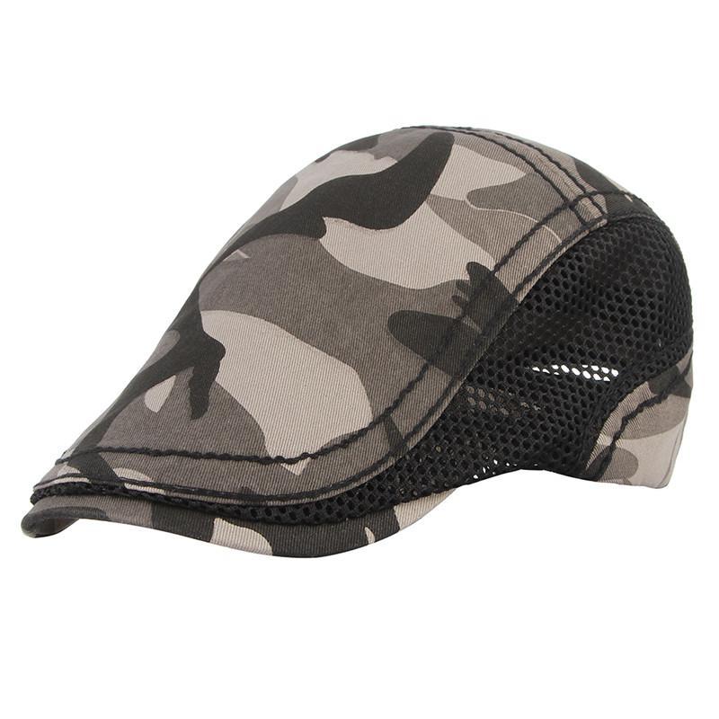 fa90ad14 2019 2018 New Summer Casual Beret Hat Men Flat Cap Cabbie Newsboy ...