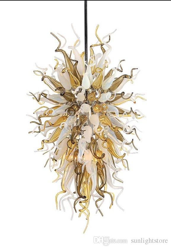 100% Mouth Blown Borosilicate Unique Design Home Lamps Living Room Furniture Chihully Style Murano Glass Chandelier