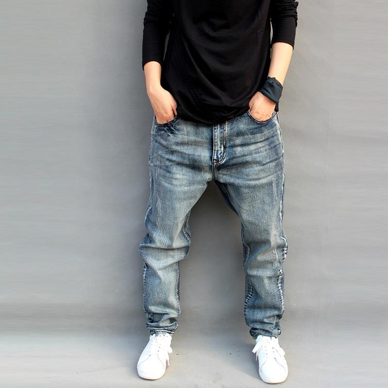 los angeles save up to 80% superior quality Jeans à la mode des hommes lâches sarouel pantalon légèrement extensible  grande taille planche à roulettes baggy jean hommes trousres coton