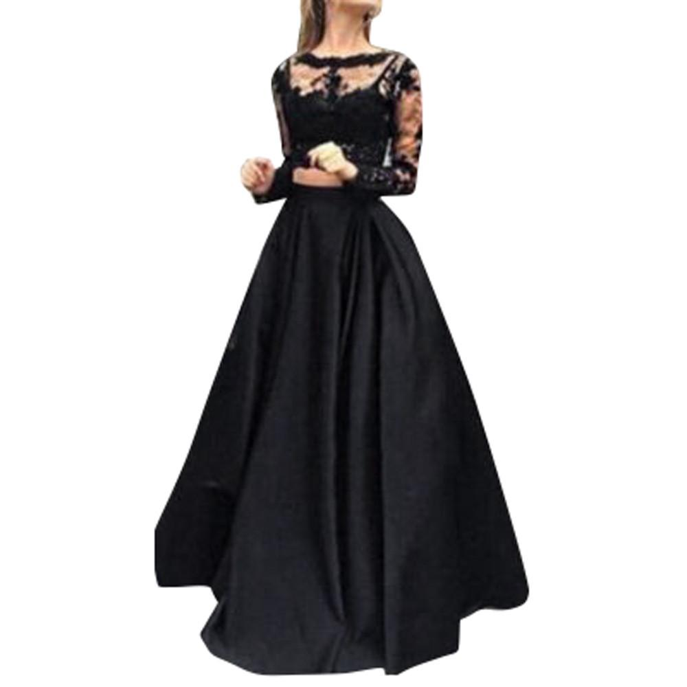 New Arrival Women Formal Prom Long Dress Fashion Elegant Ladies Evening  Party Long Maxi Dress Lace Blouse Set Vestidos De Festa Special Occasion  Dress Pink ... a82a9e3f3