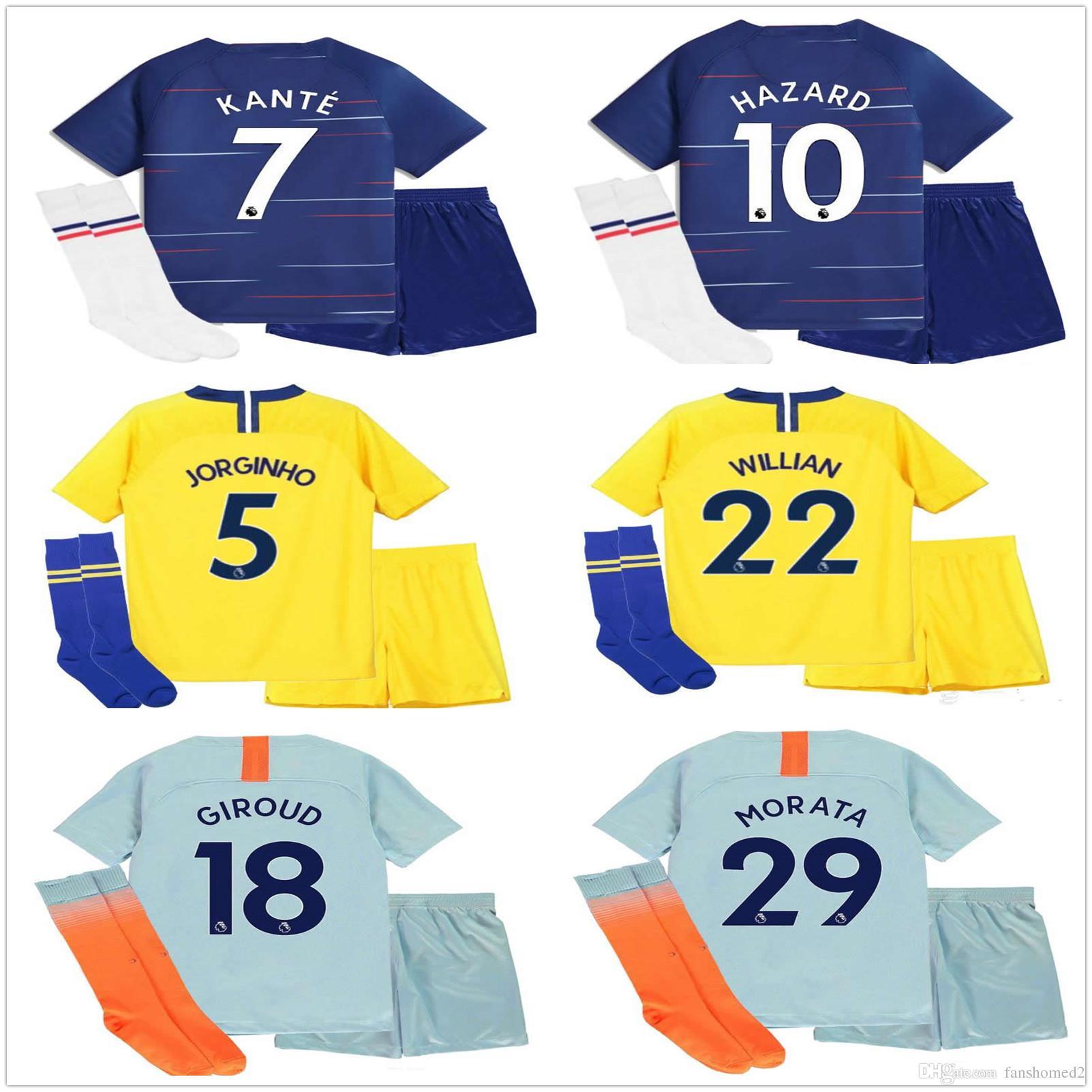 Compre 2018 PELIGRO 2019 Juegos De Fútbol Para Niños 18 19 MARCOS ALONSO  MORATA Kit Para Niños GIROUD KOVACIC Uniforme De Fútbol Para Niños Juegos  De Fútbol ... d0fc1d9dcd1c8