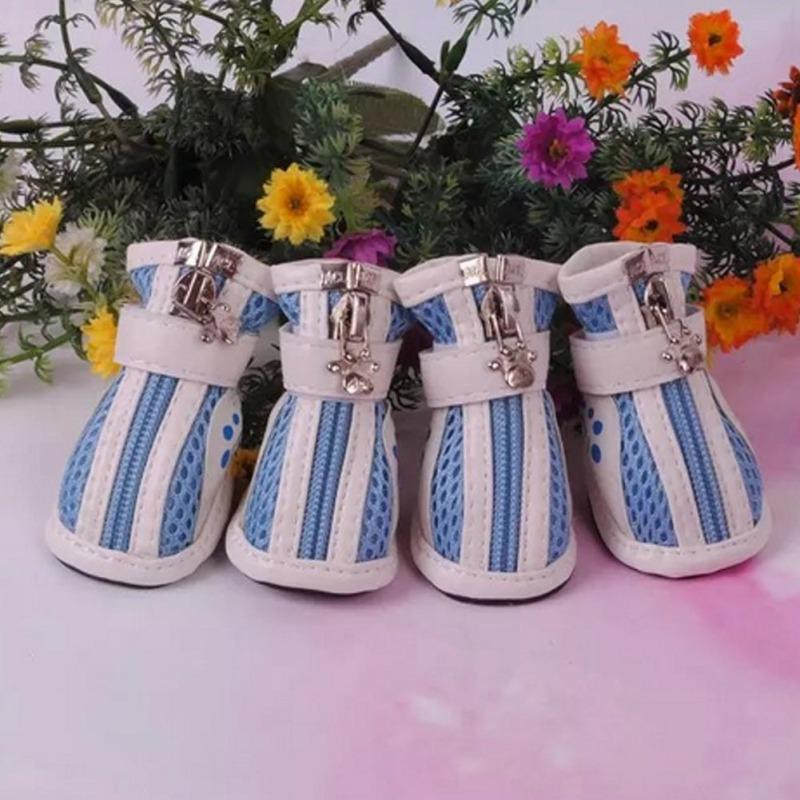 Spring Summer Anti Slip Pet Boots Mesh Breathable Dog Pet Shoes for dogs small puppy shoe for chihuahua Teddy