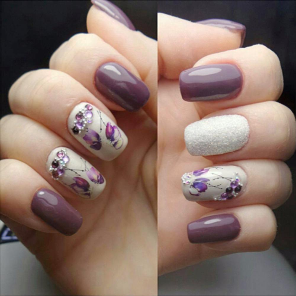 Water Transfer Nail Art Sticker Flowers Butterfly Design Nails Wraps