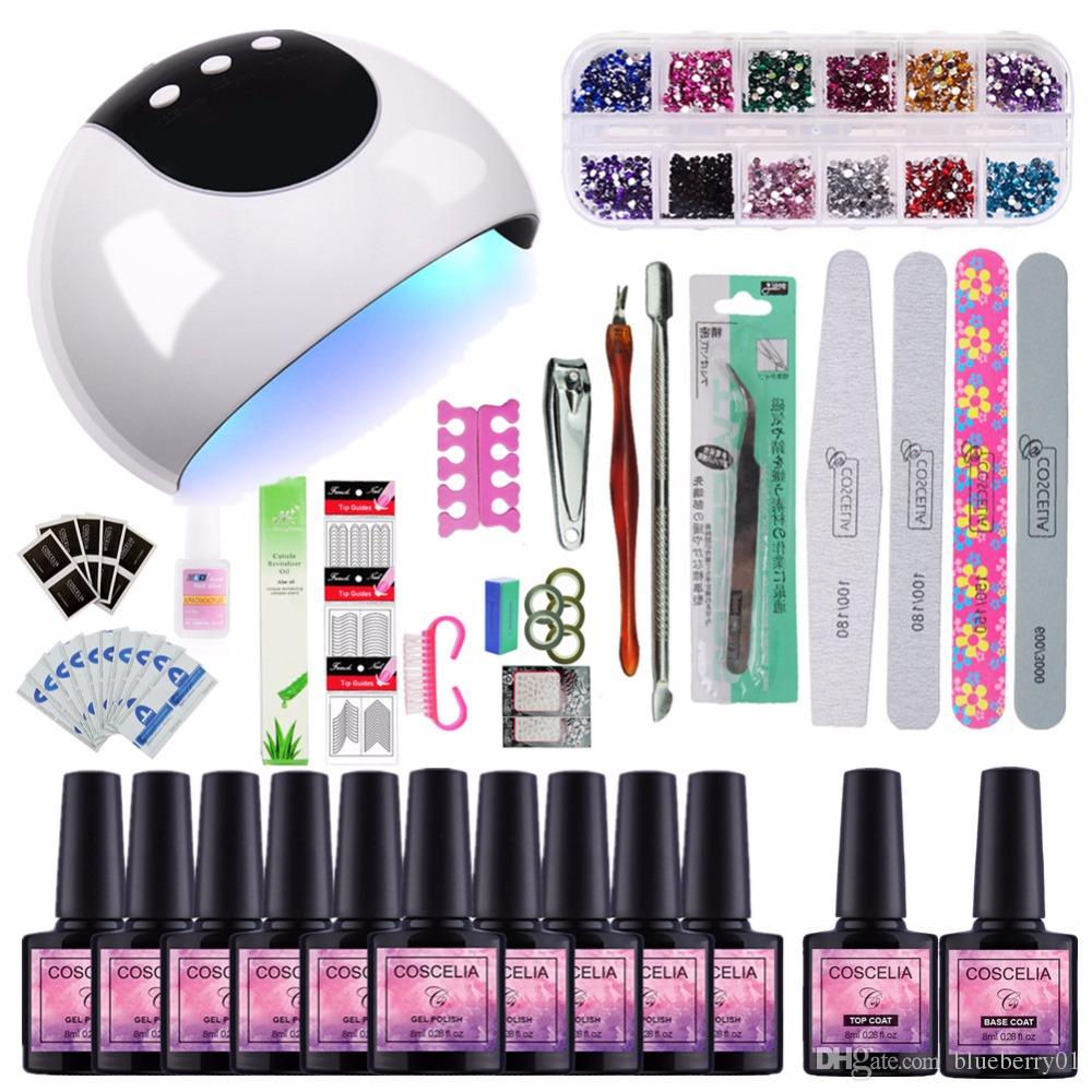 9fe5f8176f7 Nail Set 24w UV Lamp Dryer With Nail Gel Polish Soak Off Manicure Products  Lasting Gel For Nail Art Tools Nail Art Tools Stamping Nail Art From  Blueberry01