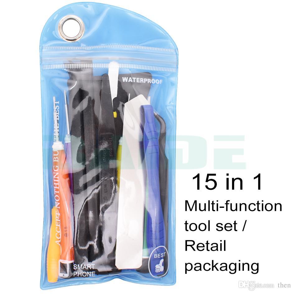 تتضمن مجموعة أدوات إصلاح الهواتف الذكية 15 في 1 أداة فتح حدق مع سكاكين نايلون سبودجرز 2