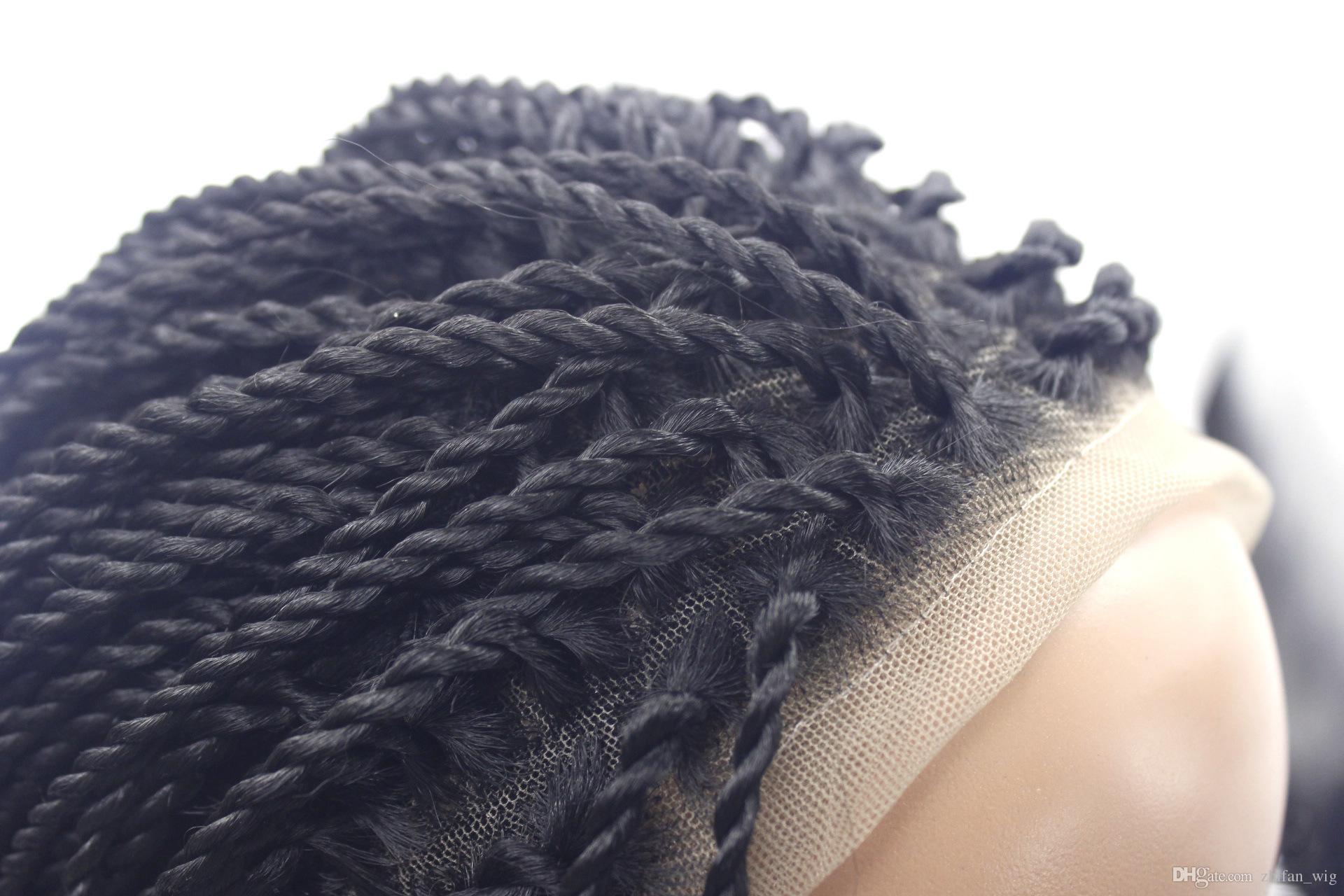ZhiFan torção trança de cabelo estilos dupla torção tranças penteados 26 polegadas longo tecelagem sites de cabelo artesanal de rendas frente perucas de cabelo DHL LIVRE