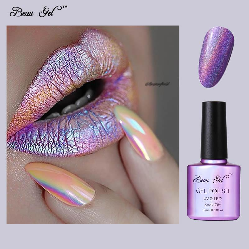 Beau Gel Nail Gel Polish Uv Soak Off 10ml Rainbow Nail Polish ...