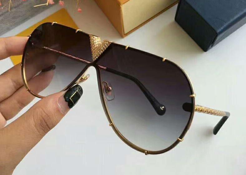 Compre Gafas De Sol Para Hombre Z1060 Pilot Strass Dorado / Gris ...