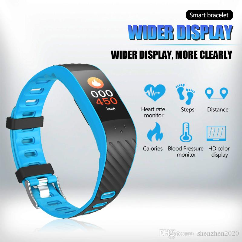 Best Wrist Heart Rate Monitor 2020 Colourful Touch Screen Smartband Heart Rate Blood Pressure