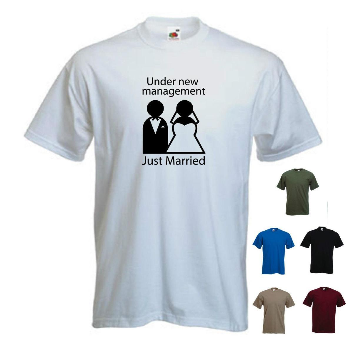 b804a97a37 'Under New Management Just Married' Mens GROOM/ MARRIAGE / WEDDING T SHIRT.  But T Shirts T Shirts Funky From Linnan007, $14.67| DHgate.Com