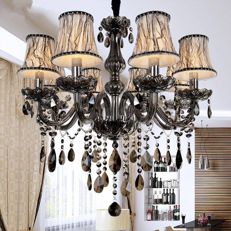 New Modern Led Crystal Chandeliers For Kitchen Room Livingroom Bedroom Gray  Color K9 Crystal Lustres De Teto Ceiling Chandelier Bedroom Chandeliers  Wood ...