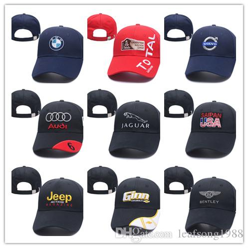 4d28e5db839 2019 2018 New Gorras Dad Hat Cotton Embroidery F1 Racing Cotton Baseball Cap  Adjustable Golf Cap Car Hats For Women Men Summer Bone Casquette From ...