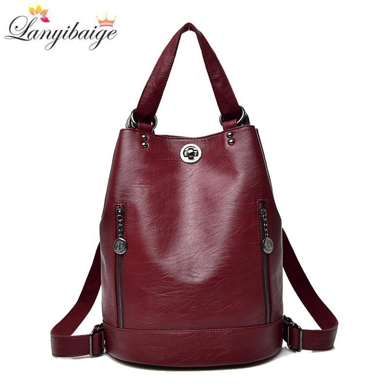 e4a5330e4009 2018 Women Backpack Winter Hot Female Designer Leather Backpack ...