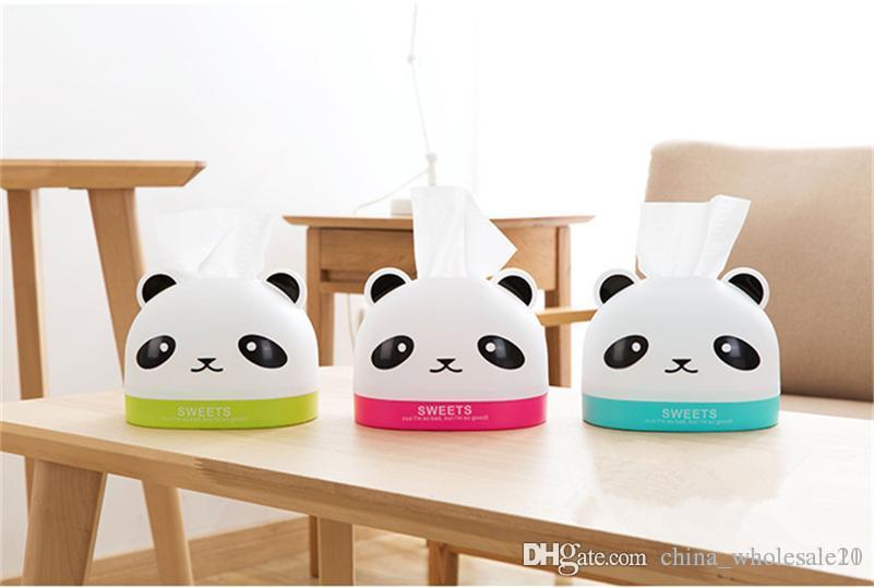 2018 Cute Cartoon Panda Tissue Box Creative Home Coffee Table Pumping Tray Living Room Desktop Plastic Napkin Storage From China Whole21