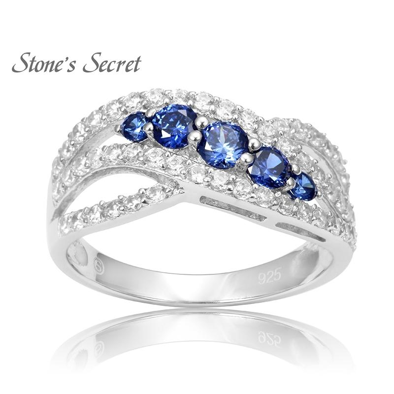 Classic Curved Design Fashion 925 Sterling Silver Tanzanite Engagement Rings Best-selling Rings for Women Y18102610