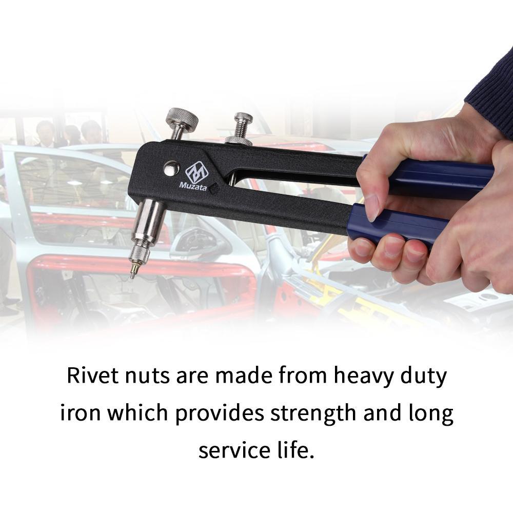 86 unids / set Blind Rivet Gun Roscado Insertar Mano Rivet Kit Tuercas de remache Nail Gun Riveting Kit Manual de herramientas de reparación manual