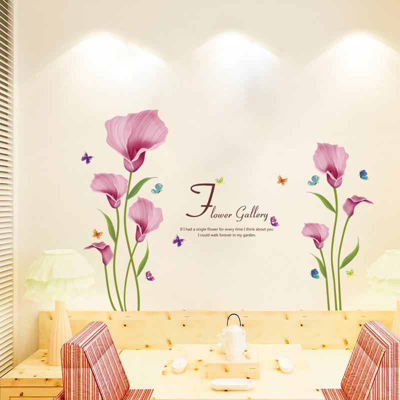 Fantastisch Großhandel Rosa Farbe Blossom FLOWER Gemütliche Romantische Wohnzimmer Schlafzimmer  Dekoration Papier Wohnzimmer Schlafzimmer Kinder Haus Kann Wand St ...