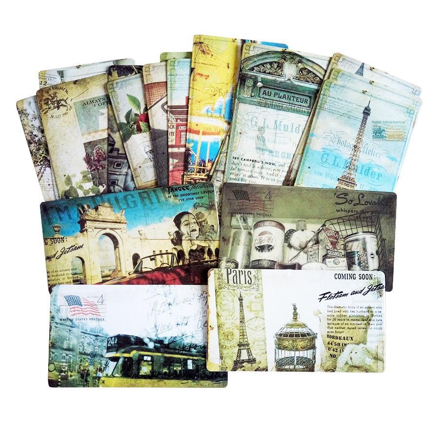 Pack Vintage Romantic Post Card Classic Paris Card Set Memory