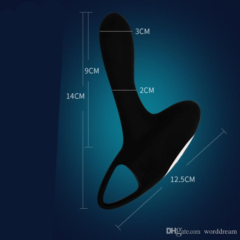 Rechargeable Silicone Prostate Massager Anal Butt Plug Male Masturbator 12 Speed Anus Vibrator Erotic Sex Toys For Men
