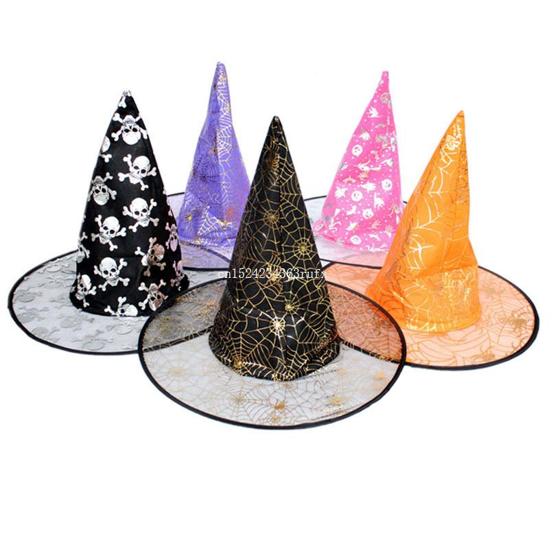 66d9e7362f1 Witch Hats Masquerade Wizard Hat Halloween Party Hats Cosplay Costume  Accessories Party Fancy Dress Decoration Hat Disco Party Supplies Discount  Birthday ...