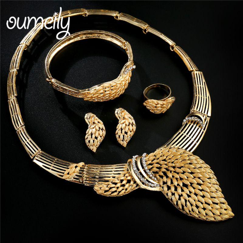 Hochzeit & Besondere Anlässe Dubai Gold Brautschmuck-sets