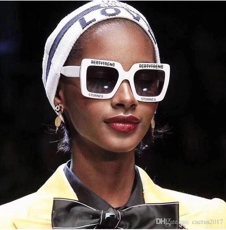 25092025d4 Luxury Oversized Square Sunglasses Women Brand Designer Retro Black Casual  Purple White Sun Glasses Woman Fashion Summer Sports Sunglasses Cheap ...