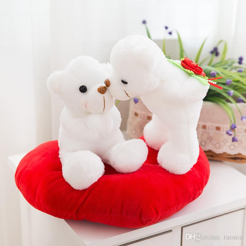 Creativo lindo AMOR cachorro AMOR oso muñecas peluches animales juguetes regalo del día de san valentín juguetes de peluche al por mayor