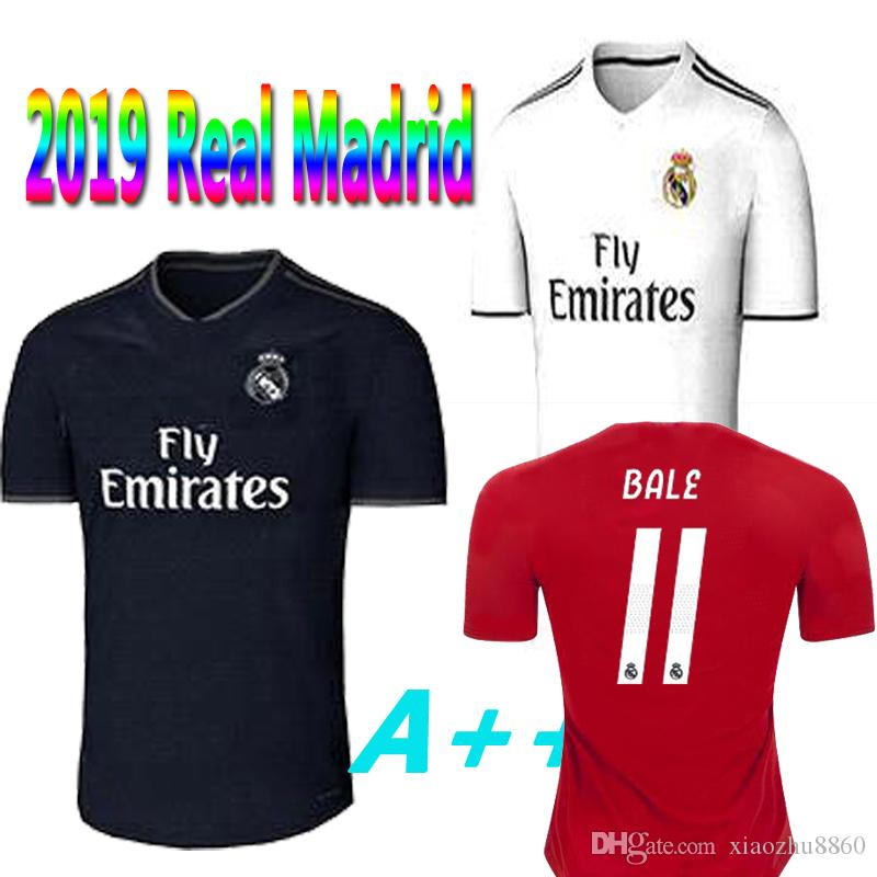 2019 Camiseta De Fútbol Del Real Madrid Camiseta De Fútbol 3ª Visita Local  18 19 LUCAS MODULARES DE RIESGO KROOS ISCO BENZEMA ASENSIO Uniforme De  Fútbol ... 1d15451a4c888