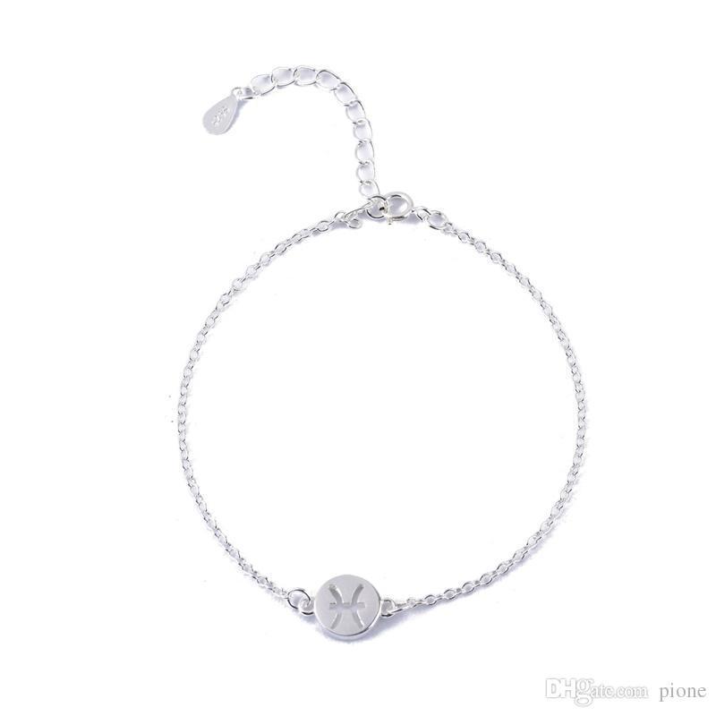 9479a168b73a Compre 12 Constellation Charm Pulsera Piscis Pulseras Para Mujeres  Horóscopo Astrología Disco Birthday Fashion Jewelry NY 084 A  8.13 Del  Pione