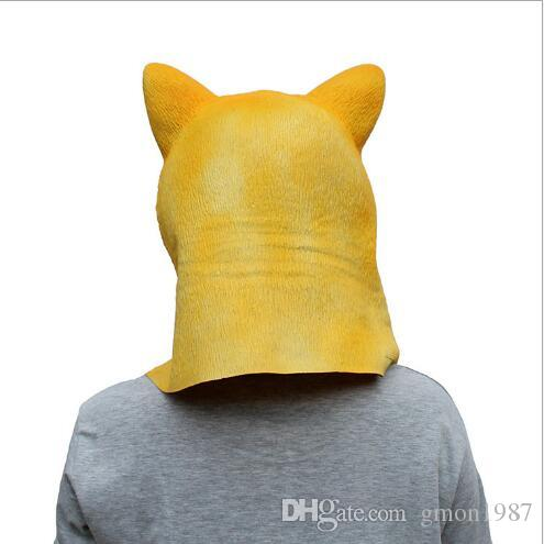 Hot Sale 100% Latex Shiba Inu Dog Animal Head Full Face Mask Halloween Party Festival Cospaly Costume Supplies Mask Dog Head Party Mask