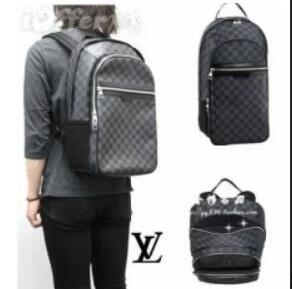 b48b5f666f54 LOUIS VUITTON women men backpack men the knapsack Casual travel backpack  bag Solid zipper women bags
